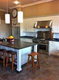 Slate Tiles For Kitchen Floor Slate Kitchen Floor White Cabinets Quicuacom