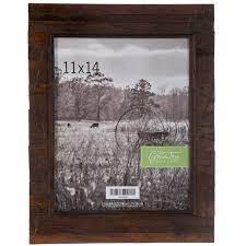 rustic slatted wood wall frame 11 x