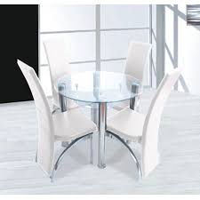 amazing of glass round dining table and chairs glass dining table set 4 chairs wildwoodsta