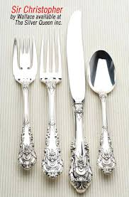 wallace sterling silver silversmiths grand flatware 4 tray wallace sterling silver rose point