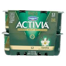 activia light yogurt nutrition iron