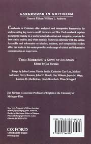 com toni morrison s song of solomon a casebook casebooks  com toni morrison s song of solomon a casebook casebooks in criticism 9780195146356 jan furman books