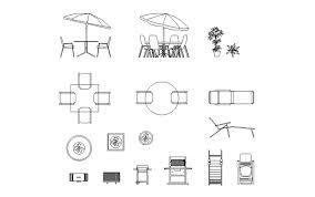 dynamic outdoor furniture blocks cad