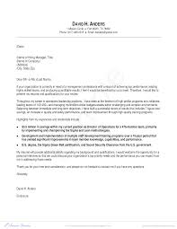 Military Cover Letter Cover Letter For Military To Management Templates At