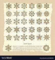 vintage snowflake background.  Vintage Vintage Background With Snowflakes Set Vector Image With Snowflake Background T