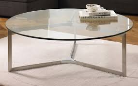 image of round glass coffee table large