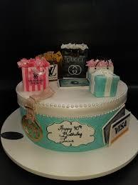 Shopping Theme 40th Birthday Cake B0842 Circos Pastry Shop