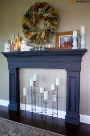 faux fireplace mantel surround
