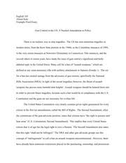engl accelerated composition clemson page course 11 pages example persuasive essay gun control