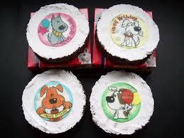 Doggie birthday cakes for dogs ~ Doggie birthday cakes for dogs ~ Dog treat birthday cake paw prints