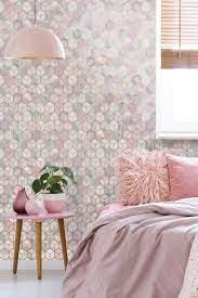 Pink wallpaper bedroom ...
