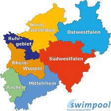 ɛnʔɛʁˈveː ()) is a german state (land) in western germany.with more than 17.9 million inhabitants, it is the most populous state of germany. Bezirke Im Sv Nrw Schwimmverband Nrw E V