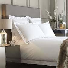 paris 400tc cotton percale white and latte bed linen collection