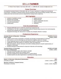The Modern Resume Amazing Assistant Director Education Modern Resume Examples Wondrous