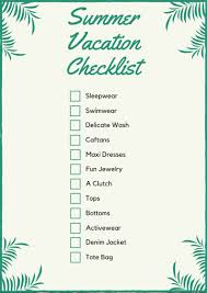 Vacation Checklist Summer Vacation Packing Checklist Its Amanda Lauren