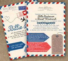 vintage air mail wedding invitation by jackandjillwedding on etsy Vintage Travel Wedding Invitations Uk airmail love story vintage travel themed postcard wedding invitation front and reverse by in the treehouse Vintage Travel Background