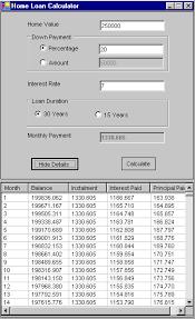 Home Mortgage Finance Calculator Mortgage Calculator In C