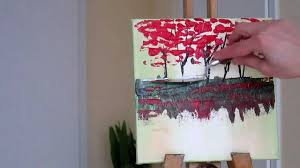 tanja bell how to paint trees painting with palette knife tutorial lesson abstract