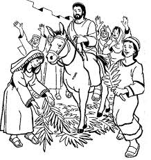 Small Picture Hosanna Hosanna in Palm Sunday Coloring Page Color Luna