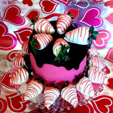 dark chocolate strawberry ercream cake with chocolate