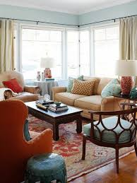 living room painting ideas light blue walls of colored carpet long curtains