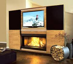 contemporary fireplace tv stand s pacer 72 with soundbar back