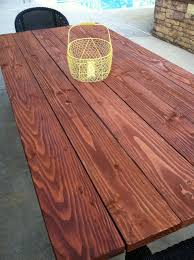 outdoor farm table finishing the table top