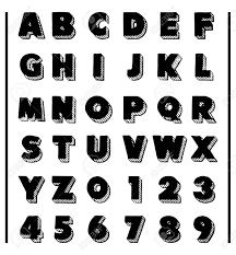 あなたのデザインのための英語のアルファベットモダンなフォントですabc の文字