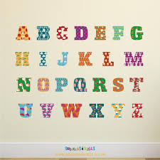 traditional alphabet wall stickers