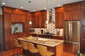 Cherry Cabinet Kitchens Granite For Cherry Kitchen Cabinets Cliff Kitchen