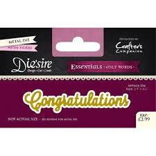 Words For Congratulations Diesire Essentials Only Words Die Congratulations