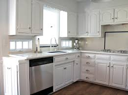 White Kitchen Cabinet Handles White Kitchen Cabinets With Stainless Steel Knobs 03184420170419