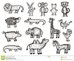 Sketches Animal Vector Image Of Animals Animal Sketches Elephant Crocodile