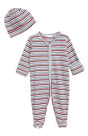 Kissy Kissy Stripe Footie Hat Set Baby Nordstrom