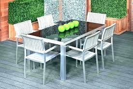 outdoor table set round patio sets with upholstered chairs setting ideas decoration