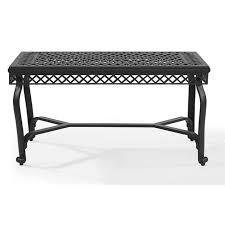 crosley portofino cast aluminum coffee table in charcoal
