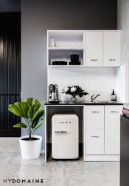 Office kitchen design Unique Step Inside Beauty Bloggers Elegant Coolgirl Office For Lesson In Minimal Decorating Pinterest Calling All Minimalists This Beauty Bloggers Office Is Your Dream