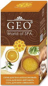 <b>GEO</b> ПН №331 Апельсин (<b>скраб для тела</b> 300 мл+соль для ванны ...