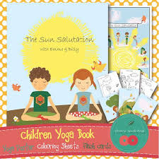 kids yoga book the sun salutation with by yogaomspiration on etsy 10 00