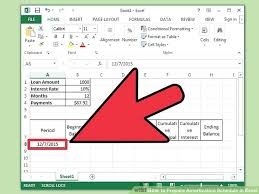 Loan Format In Excel Image Titled Prepare Amortization Schedule In Excel Step 7 Term Loan