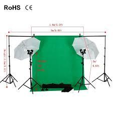 photo studio backdrop umbrella lighting kit set background support stand 3 backdrops