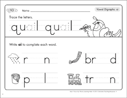 Click on the category or resource type below to find printable phonics worksheets and. Vowel Digraphs Ai Phonics Learning Mats Printable Skills Sheets