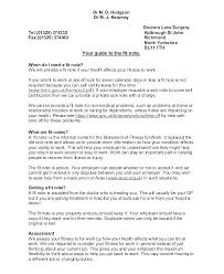 Dr Letter Template Sick Note Doctors Dates Sample Doctor Appointment