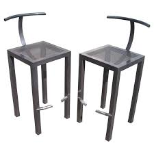philippe starck pair of bar stools for aleph ubik