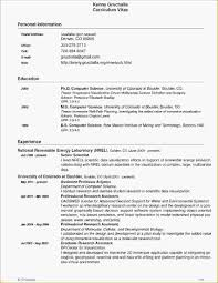 Template For Resume On Word Computer Science Resume Template Word Science Resume Template 81