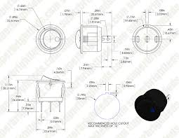 wiring diagram for a lighted rocker switch images led indicator spst round rocker switch round rocker switches