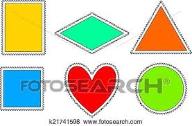 Stamps Template Postage Stamps Template Clip Art K21741598 Fotosearch