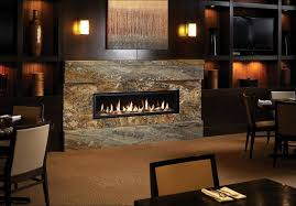 linear gas fireplace living room midcentury with tall table lamp oriental area rugs