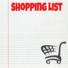 Image result for shopping list images