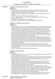 Download Residency Coordinator Resume Sample as Image file